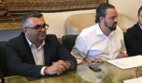 Nicola Lodi con il sindaco Alan Fabbri