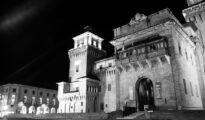 castello estense bianco e nero