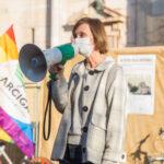 Roberta Fusari manifestazione Arcigay Ferrara - foto di Riccardo Giori